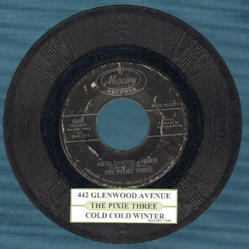 Pixies Three - 442 Glenwood Avenue/Cold Cold Winter (with juke box label) - VG7/ - 45 rpm Records