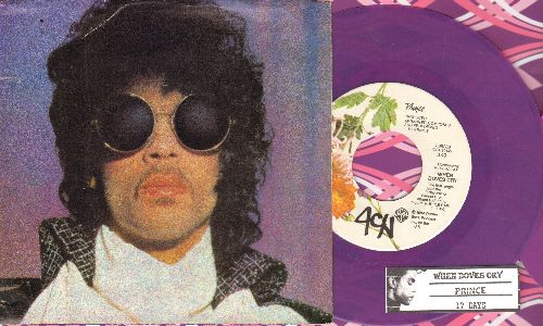 Prince - When Doves Cry/17 Days (RARE purple vinyl with picture sleeve and juke box label) - NM9/EX8 - 45 rpm Records