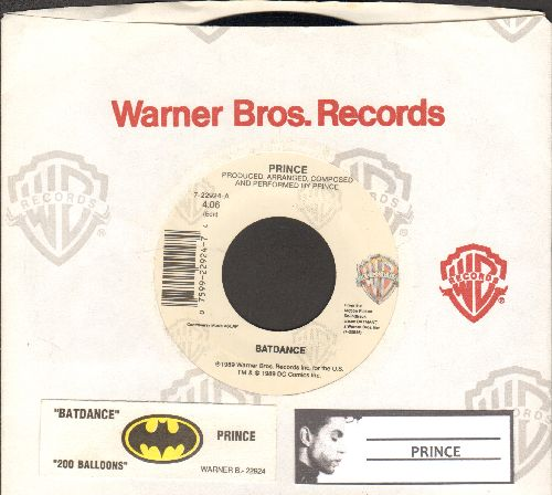 Prince - Batdance/200 Balloons (with juke box label and company sleeve) - EX8/ - 45 rpm Records