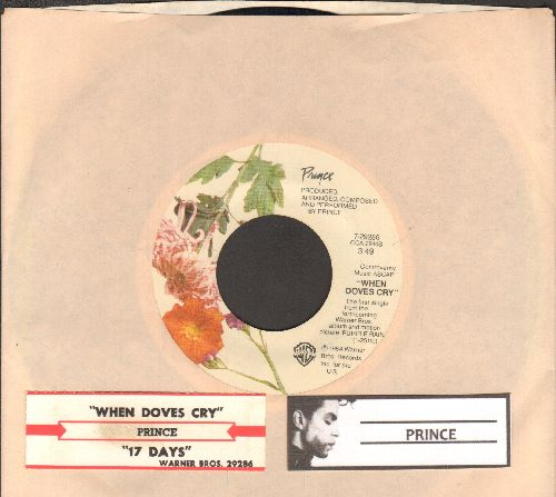 Prince - When Doves Cry/17 Days (with juke box label and company sleeve) - VG7/ - 45 rpm Records