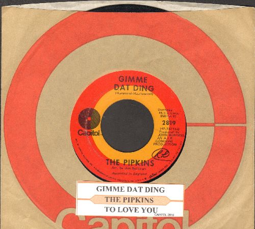 Pipkins - Gimme Dat Ding (Theme from Benny Hill Show)/To Love You (with juke box label and Capitol company sleeve) - VG7/ - 45 rpm Records