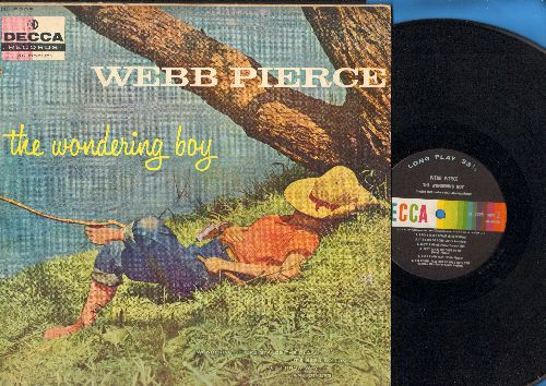 Pierce, Webb - The Wondering Boy: Back Street Affair, That Heart Belongs To Me, Don't Throw Your Life Away (vinyl MONO LP record) - VG7/VG7 - LP Records
