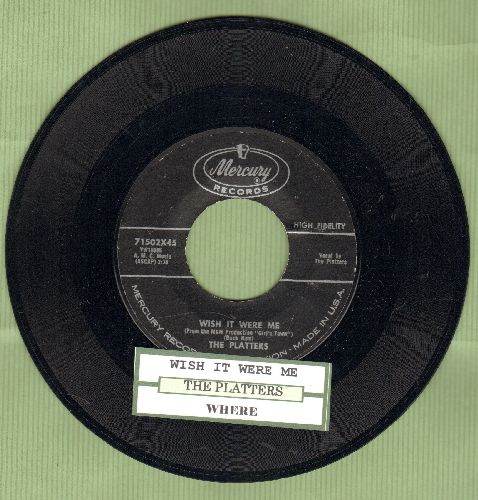 Platters - Where/Wish It Were Me (with juke box label) - NM9/ - 45 rpm Records