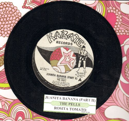 Peels - Juanita Banana (Part II)/Rosita Tomato (RARE follow-up to Hilarious Novelty Hit Juanita Banana, DJ advance pressing with juke box label) - NM9/ - 45 rpm Records