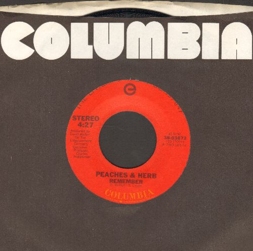 Peaches & Herb - Remember/Come To Me (with Columbia company sleeve) - NM9/ - 45 rpm Records