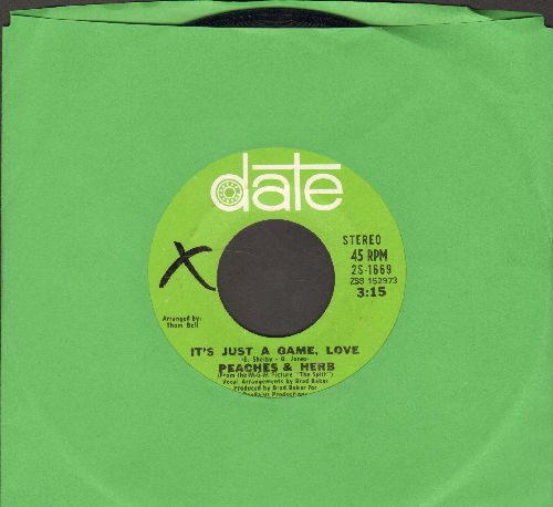 Peaches & Herb - It's Just A Game, Love/Satisfy My Hunger - EX8/ - 45 rpm Records