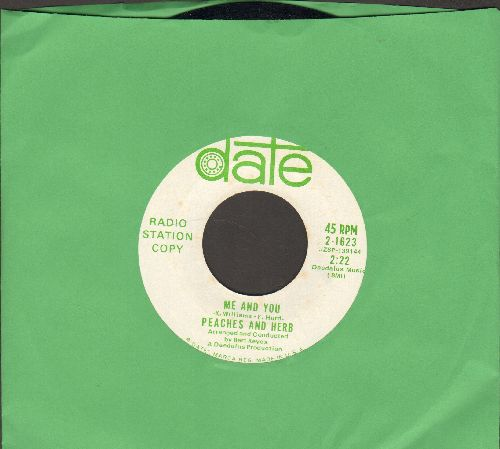 Peaches & Herb - Me And You/Let's Make A Promise (DJ advance pressing) - NM9/ - 45 rpm Records