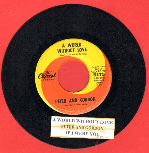 Peter & Gordon - A World Without Love/If I Were You (wol) - EX8/ - 45 rpm Records