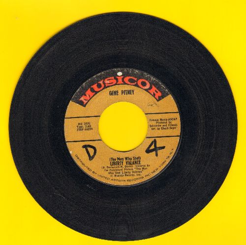 Pitney, Gene - The Man Who Shot Liberty Valence/Take It Like A Man (wol) - VG7/ - 45 rpm Records