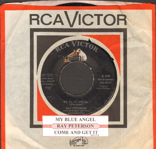 Peterson, Ray - My Blue Angel/I'm Tired (with juke box label and vintage RCA company sleeve) - NM9/ - 45 rpm Records
