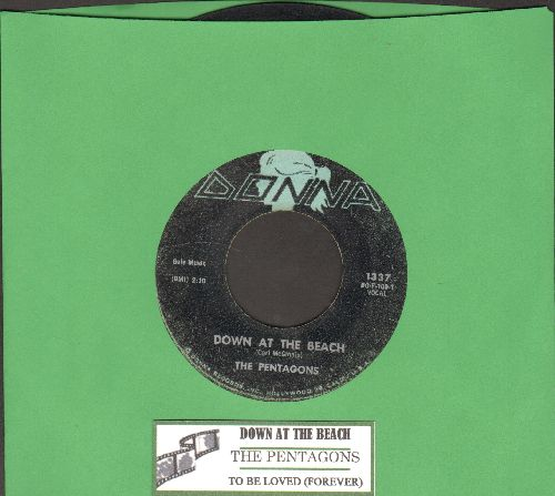 Pentagons - Down At The Beach/To Be Loved (Forever) (with juke box label) - VG6/ - 45 rpm Records