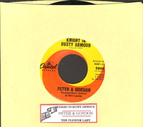 Peter & Gordon - Knight In Rusty Armor/The Flower Lady (with juke box label) - NM9/ - 45 rpm Records