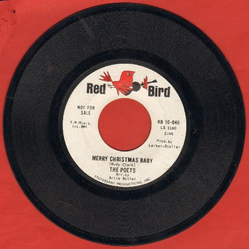 Poets - Merry Christmas Baby/I'm Stuck On You (DJ advance pressing) - EX8/ - 45 rpm Records