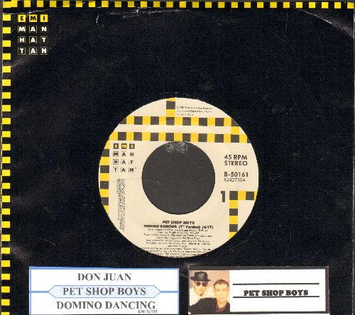 Pet Shop Boys - Domino Dancing/Don Juan (with juke box label and EMI company sleeve) - NM9/ - 45 rpm Records