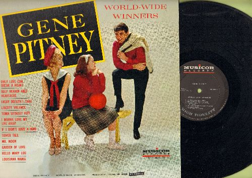 Pitney, Gene - World-Wide Winners: Only Love Can Break A Heart, Half Heaven Half Heartache, Every Breath I Take, Liberty Valence, Town Without Pity, I Wanna Love My Life Away, Hello Mary Lou (Vinyl MONO LP record) - NM9/EX8 - LP Records