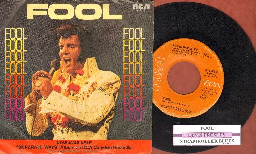Presley, Elvis - Fool/Steamroller Blues (with juke box label and picture sleeve) - VG7/ - 45 rpm Records