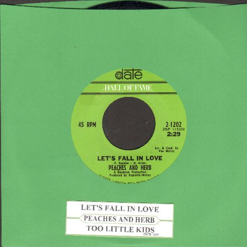 Peaches & Herb - Let's Fall In Love/Two Little Kids (double-hit re-issue with juke box label) - NM9/ - 45 rpm Records