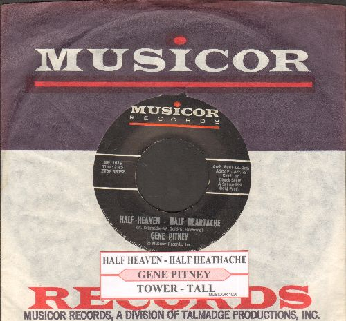 Pitney, Gene - Half Heaven - Half Heartache/Tower-Tall (with juke box label and Musicor company sleeve) - NM9/ - 45 rpm Records