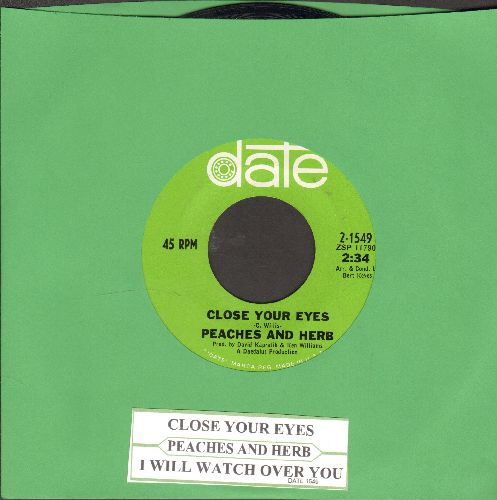 Peaches & Herb - Close Your Eyes/I Will Watch Over You (with juke box label) - NM9/ - 45 rpm Records