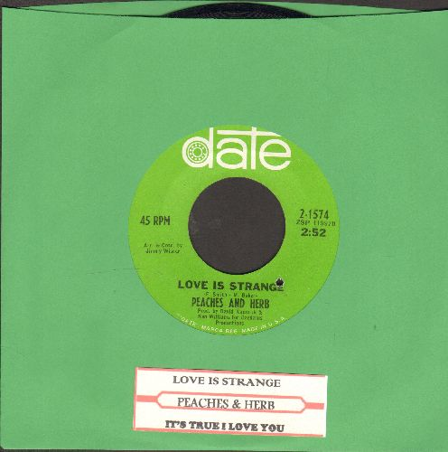 Peaches & Herb - Love Is Strange/It's True I Love You (with juke box label)(bb) - NM9/ - 45 rpm Records