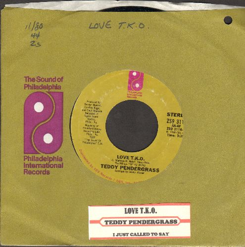 Pendergrass, Teddy - Love T.K.O./I Just Called To Say (with juke box label and company sleeve) - NM9/ - 45 rpm Records