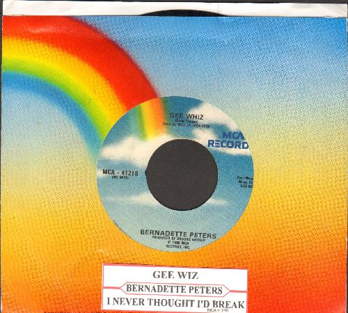 Peters, Bernadette - Gee Whiz (Look At His Eyes)/I Never Thought I'd Break (with juke box label and MCA company sleeve) - NM9/ - 45 rpm Records