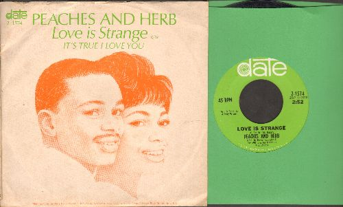 Peaches & Herb - Love Is Strange/It's True I Love You (with picture sleeve) - NM9/EX8 - 45 rpm Records