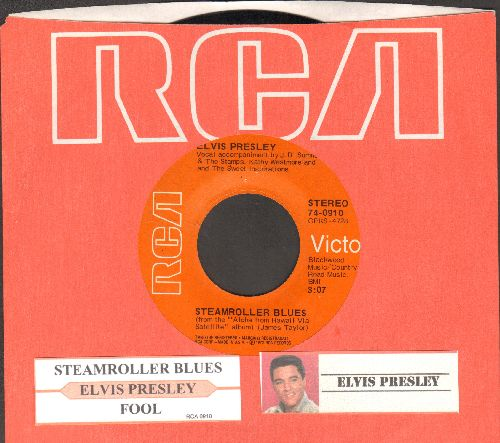 Presley, Elvis - Fool/Steamroller Blues (with juke box label and RCA company sleeve) - EX8/ - 45 rpm Records
