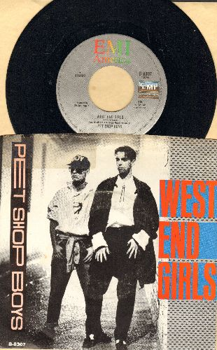 Pet Shop Boys - West End Girls/A Man Could Get Arrested (with picture sleeve) - NM9/EX8 - 45 rpm Records