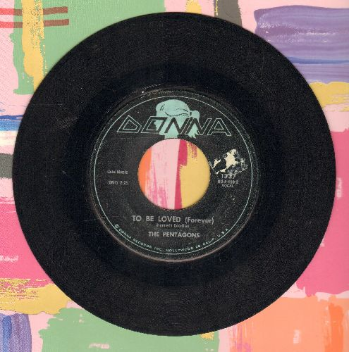 Pentagons - To Be Loved (Forever/Down At The Beach - VG7/ - 45 rpm Records