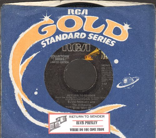 Presley, Elvis - Return To Sender/Where Do You Come From (re-issue with juke box label with company sleeve) - VG7/ - 45 rpm Records