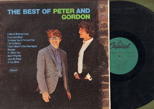 Peter & Gordon - The Best Of: A World Without Love, True Love Ways, I Go To Pieces, I Don't Want To See You Again (vinyl LP record, re-issue of vintage recordings) - NM9/NM9 - LP Records