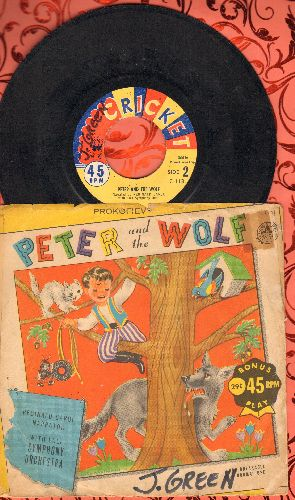 Carol, Reginald & Full Symphony Orchestra - Peter And The Wolf - Narrated by Reginald Caol with full Symphony Orchestra (with picture sleeve) - VG7/VG6 - 45 rpm Records