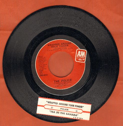 Police - Wrapped Around Your Finger/Tea In The Sahara (LIVE Version) (with juke box label) - NM9/ - 45 rpm Records