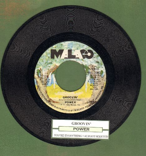 Power - Groovin'/You're Everything I Ever Wanted (with juke box label) - NM9/ - 45 rpm Records
