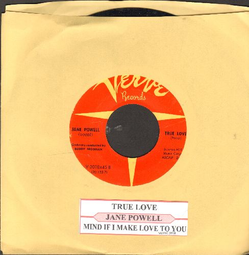 Powell, Jane - True Love/Mind If I Make Love To You (orange label with juke box label) - NM9/ - 45 rpm Records