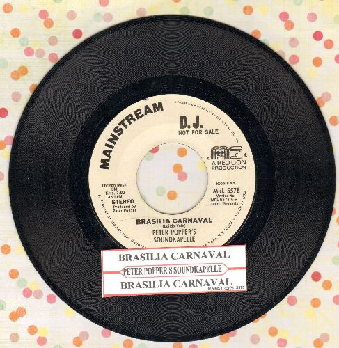 Popper, Peter Soundkapelle - Brasilian Carnaval (double-A-sided DJ advance pressing with juke box label) - NM9/ - 45 rpm Records