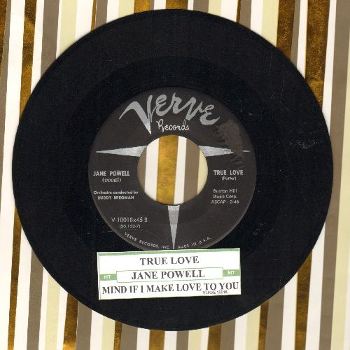 Powell, Jane - True Love/Mind If I Make Love To You (with juke box label) - EX8/ - 45 rpm Records