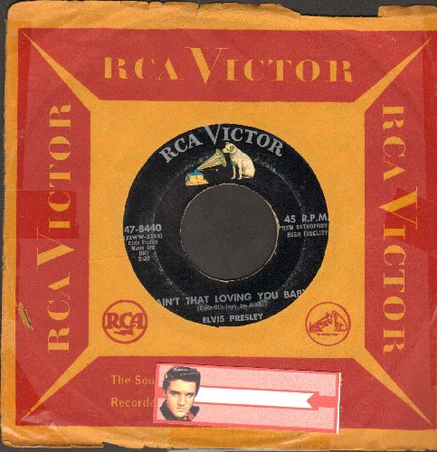 Presley, Elvis - Ain't That Loving You Baby/Ask Me (with RCA company sleeve)  - EX8/ - 45 rpm Records