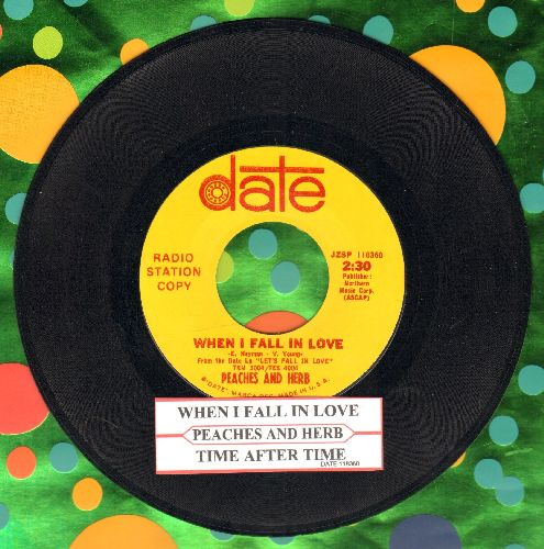 Peaches & Herb - When I Fall In Love/Time After Time (DJ advance pressing with juke box label) - NM9/ - 45 rpm Records