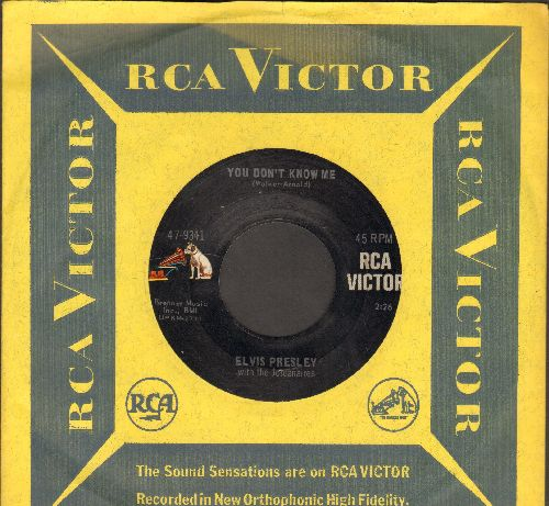 Presley, Elvis - You Don't Know Me/Big Boss Man (with RCA company sleeve) - EX8/ - 45 rpm Records