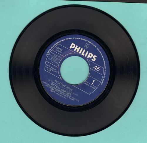 Peters & Lee - Welcome Home/Can't Keep My Mind On The Game - EX8/ - 45 rpm Records