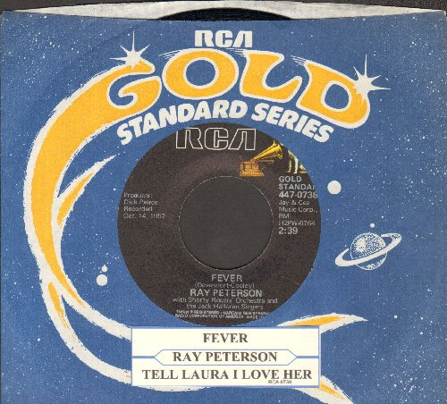 Peterson, Ray - Fever/Tell Laura I Love Her (double-hit re-issue with RCA company sleeve and juke box label) - NM9/ - 45 rpm Records
