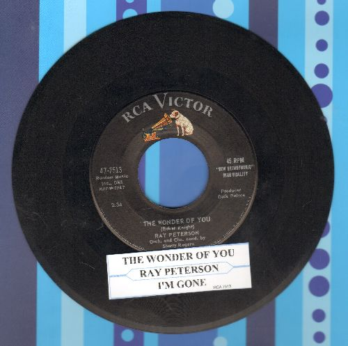 Peterson, Ray - The Wonder Of You/I'm Gone (with juke box label) - EX8/ - 45 rpm Records