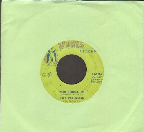 Peterson, Ray - You Thrill Me (FANTASTIC 50's Teen Idol Sound!)/Missing You - VG6/ - 45 rpm Records