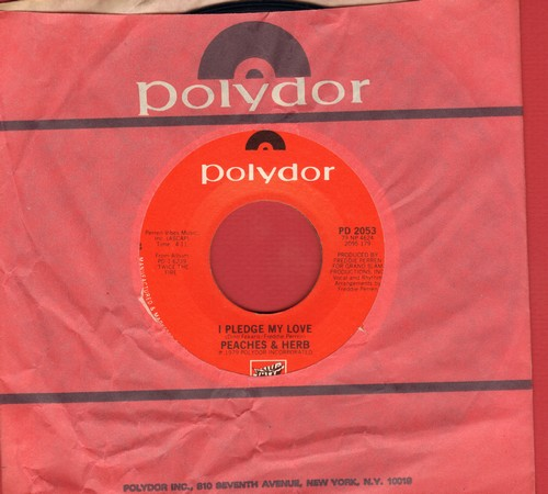 Peaches & Herb - I Pledge My Love/(I Want Us) Back Together - NM9/ - 45 rpm Records