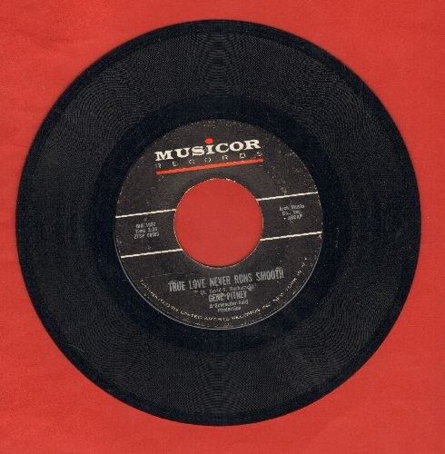 Pitney, Gene - True Love Never Runs Smooth/Donna Means Heartbreak (with juke box label) - EX8/ - 45 rpm Records
