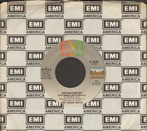 Pet Shop Boys - Opportunities (Let's Make Lots Of Money)/Was That What It Was (with EMI company sleeve) - EX8/ - 45 rpm Records