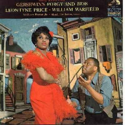 Warfield, William & Leontyne Price - Porgy And Bess - The Dream Cast in the Gershwin Masterpiece! RCA Red Seal Dynagroove recording! (Vinyl MONO LP record, gate-fold cover) - NM9/VG7 - LP Records