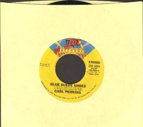 Perkins, Carl - Blue Suede Shoes/Rock On Around The World - NM9/ - 45 rpm Records